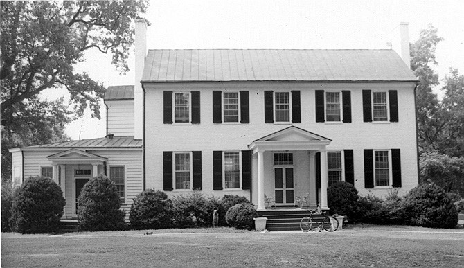 Brookbury- 1968. Source Department of Historic Resources