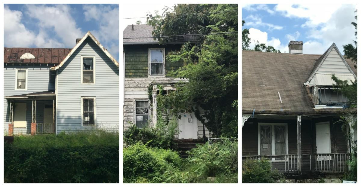 Three historic homes in Southern Barton Heights that will be rehabilitated for affordable housing.