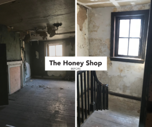 BEFORE honey shop collage fb