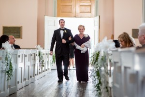 Mother and Son down the aisle