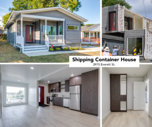 shipping container house fb collage